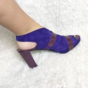 Audley London anthro suede leather heels